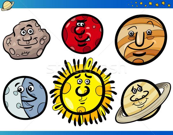 Photo stock: Planètes · cartoon · illustration · drôle