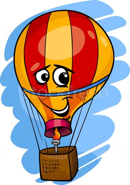 Stockfoto: Luchtballon · cartoon · illustratie · grappig · komische · mascotte