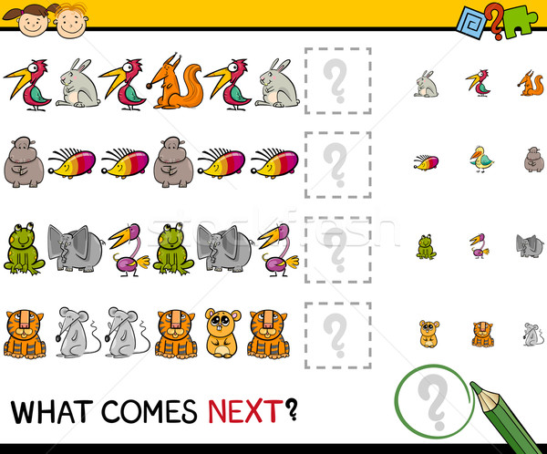 what comes next game cartoon Stock photo © izakowski