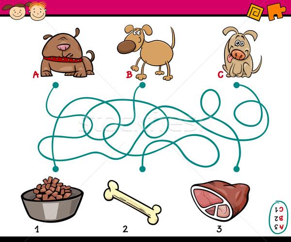 paths or maze game for children Stock photo © izakowski