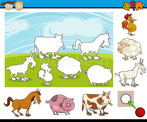 cartoon preschool task for kids Stock photo © izakowski