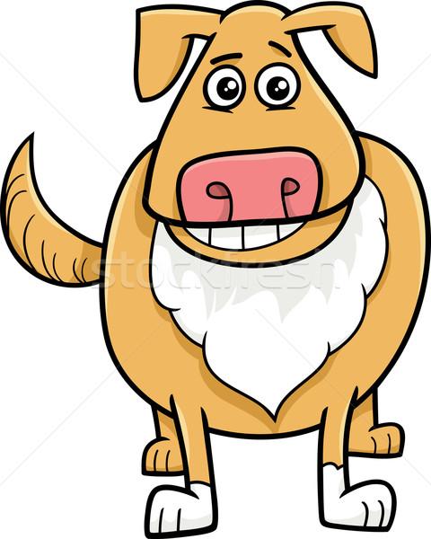 Cane cartoon illustrazione divertente animale Foto d'archivio © izakowski