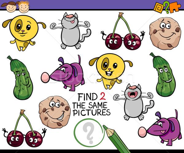 Kindergarten tarea ninos Cartoon ilustración encontrar Foto stock © izakowski