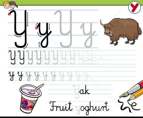 how to write letter y Stock photo © izakowski