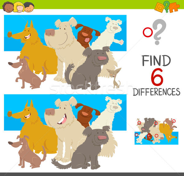 spot the differences with dogs Stock photo © izakowski