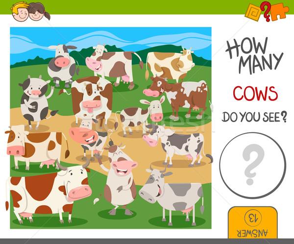how many cows game Stock photo © izakowski