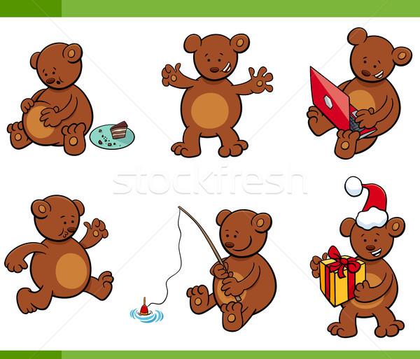 cartoon bear animal characters set Stock photo © izakowski