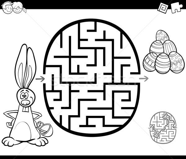 easter maze activity for coloring Stock photo © izakowski