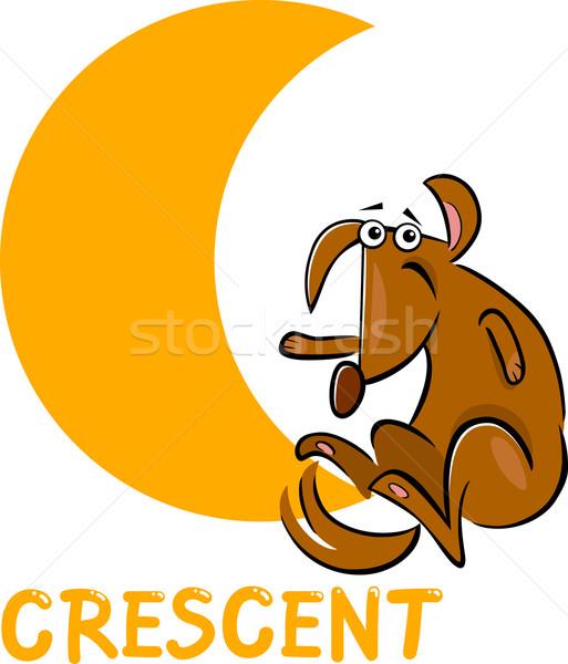 полумесяц форма Cartoon собака иллюстрация фундаментальный Сток-фото © izakowski