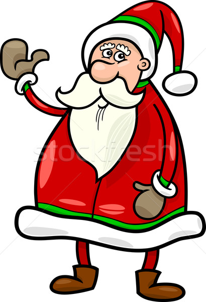 santa claus christmas cartoon illustration Stock photo © izakowski
