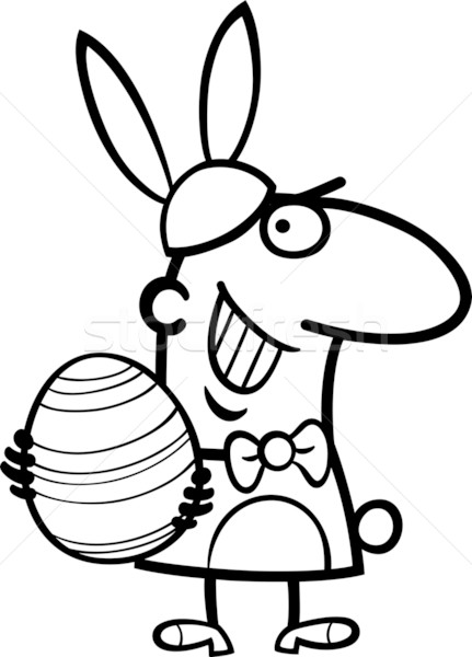 man in easter bunny costume cartoon Stock photo © izakowski
