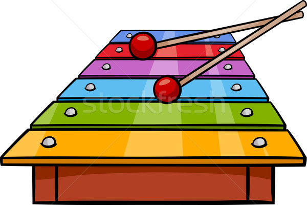xylophone clip art cartoon illustration Stock photo © izakowski