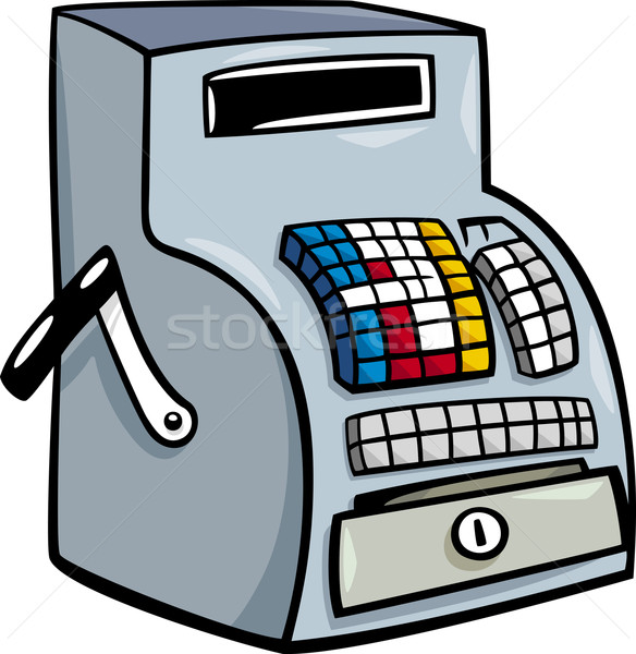 till or cash register cartoon clip art Stock photo © izakowski