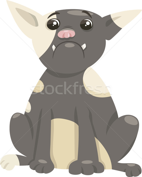 french bulldog dog cartoon Stock photo © izakowski
