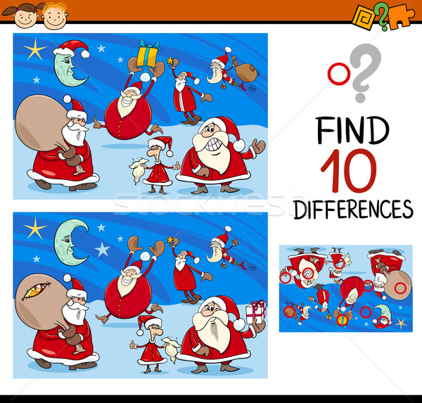 differences task with santa Stock photo © izakowski