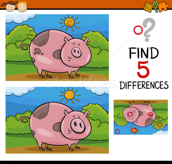 finding differences task Stock photo © izakowski