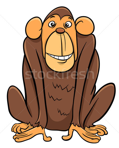 ape animal character Stock photo © izakowski