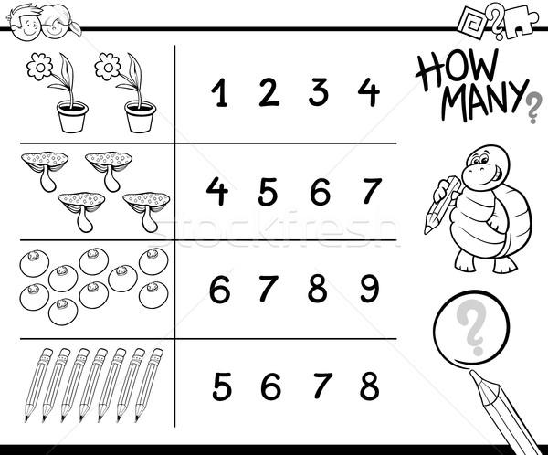 counting game coloring page Stock photo © izakowski