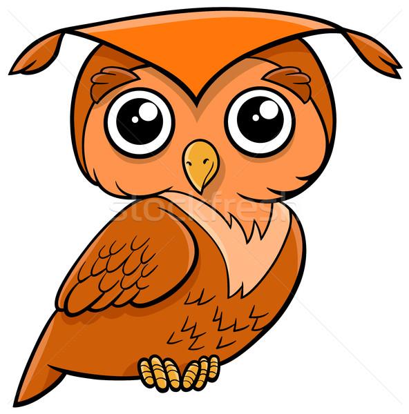 owl bird cartoon animal Stock photo © izakowski