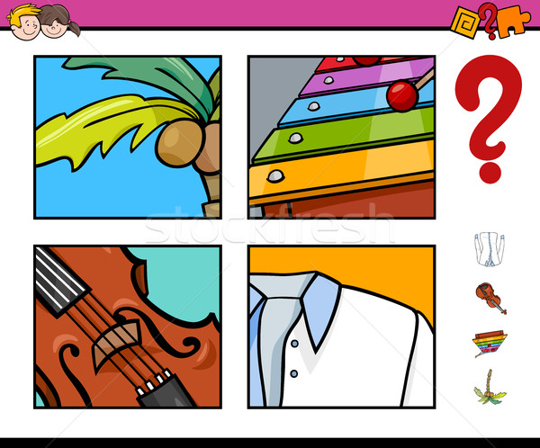 Odgadnąć obiektu działalność gry cartoon ilustracja Zdjęcia stock © izakowski