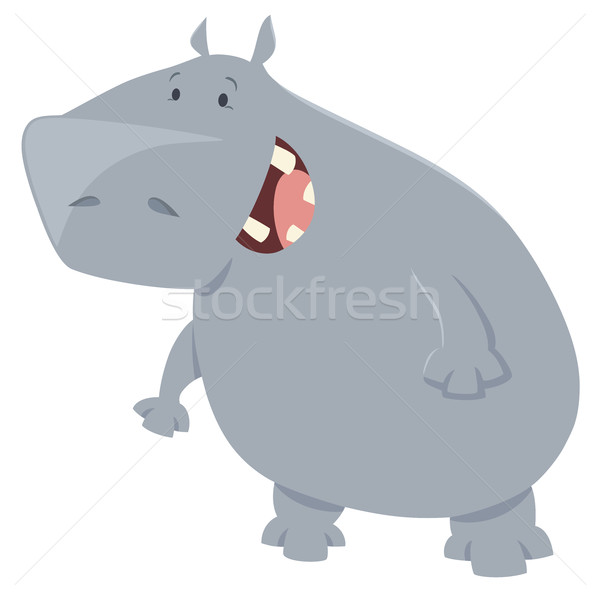 hippo cartoon animal character Stock photo © izakowski