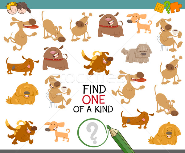 find one of a kind with dogs Stock photo © izakowski