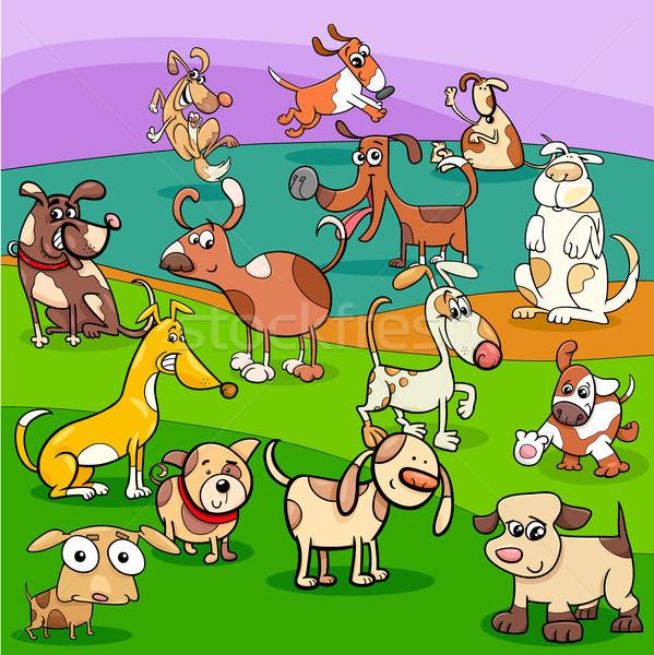spotted dogs cartoon characters group Stock photo © izakowski