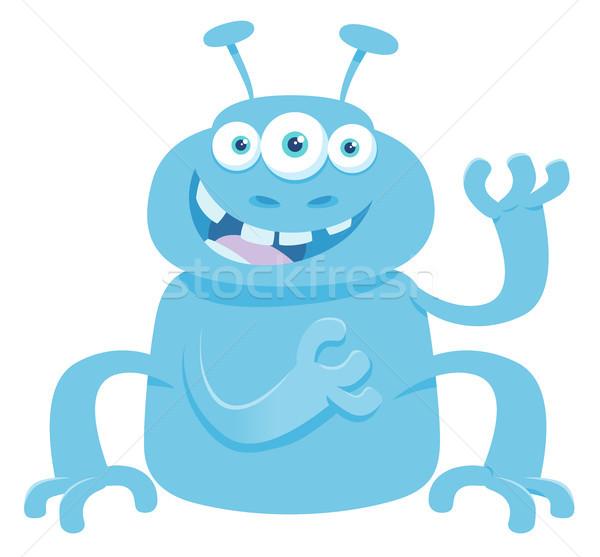 Fantasía monstruo criatura Cartoon ilustración funny Foto stock © izakowski