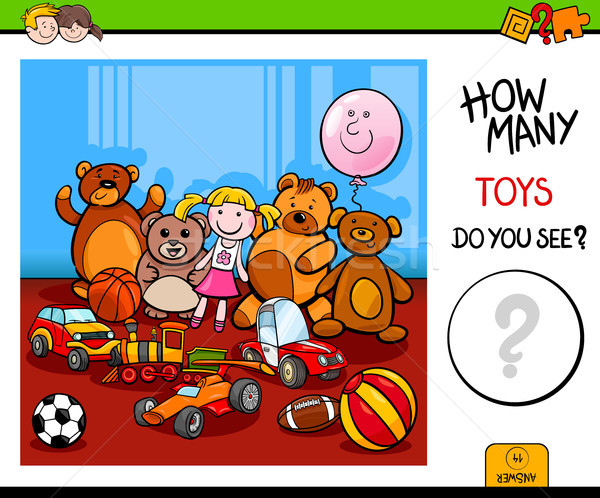 counting toys educational game for children Stock photo © izakowski
