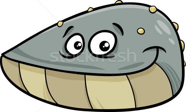 mussel mollusk cartoon illustration Stock photo © izakowski