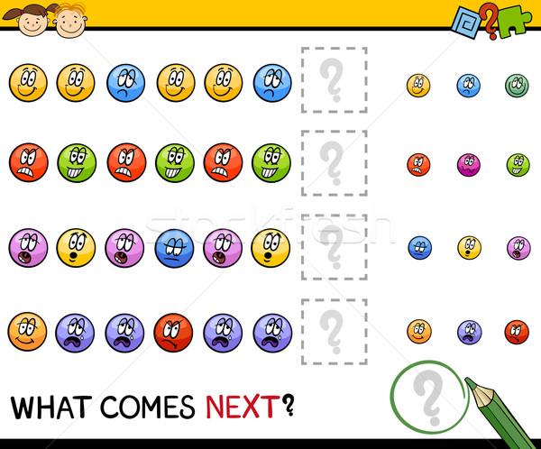 kindergarten pattern task Stock photo © izakowski
