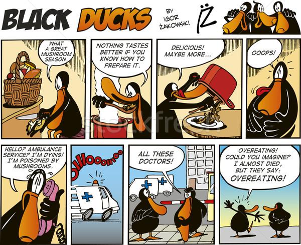 Black Ducks Comics episode 65 Stock photo © izakowski