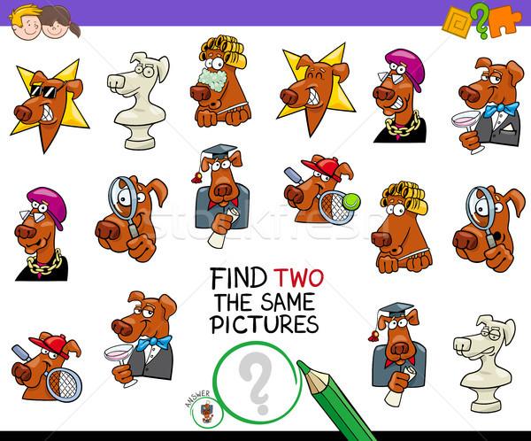 Encontrar dois fotos jogo cães desenho animado Foto stock © izakowski