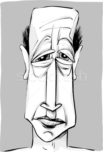 old man caricature Stock photo © izakowski