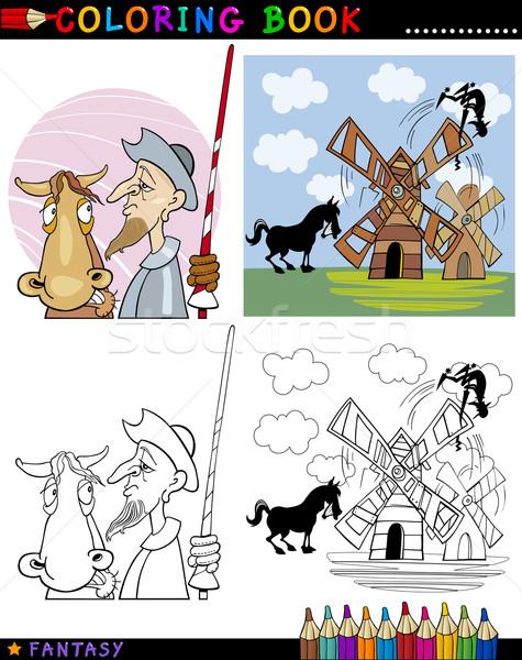 Don Quixote for coloring Stock photo © izakowski