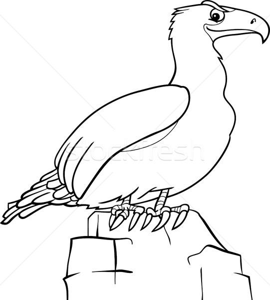 Karikatur Kartal Boyama Kitabi Siyah Beyaz Ornek Kus