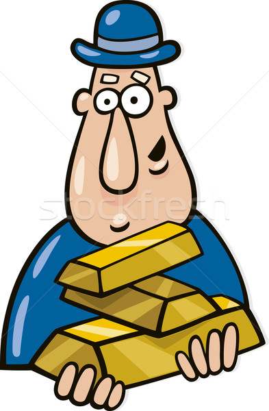 Stock photo: Man with goldbars