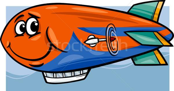 zeppelin airship cartoon illustration Stock photo © izakowski