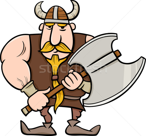 viking cartoon illustration Stock photo © izakowski