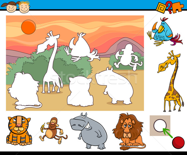 educational game for preschool kids Stock photo © izakowski