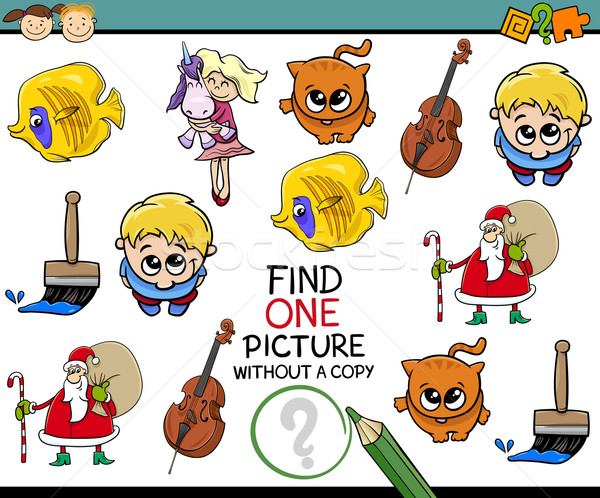 Tarefa pré-escolares desenho animado ilustração jardim de infância Foto stock © izakowski