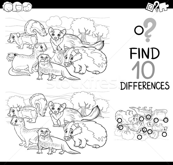 wild animals differences game Stock photo © izakowski