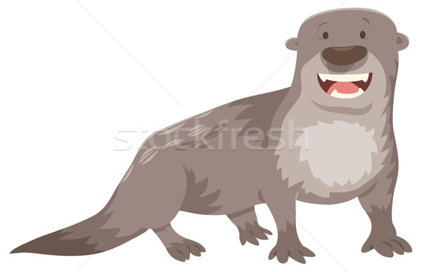otter cartoon animal character Stock photo © izakowski