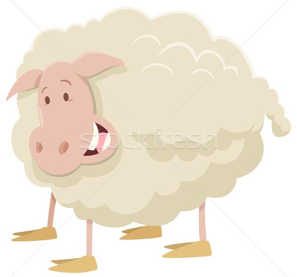 ストックフォト: ファーム · 羊 · 動物 · 文字 · 漫画 · 実例