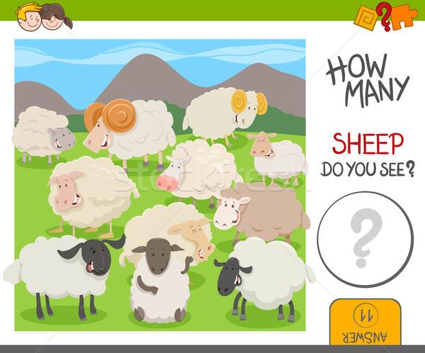count the sheep activity worksheet Stock photo © izakowski