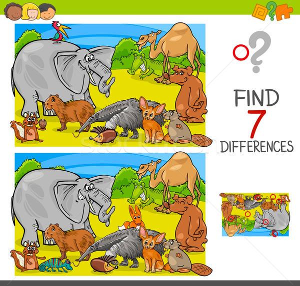находить различия игры животного группа Сток-фото © izakowski