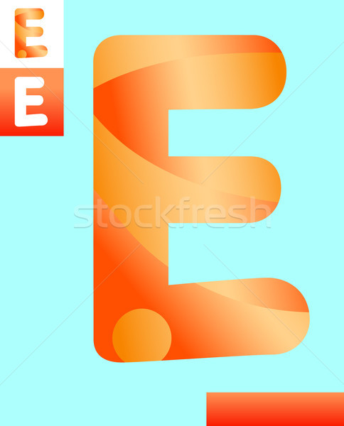 letter e graphic design illustration Stock photo © izakowski