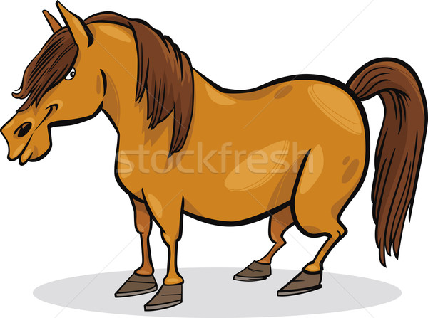 cartoon pony horse Stock photo © izakowski
