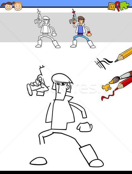 рисунок задача Cartoon иллюстрация образовательный Сток-фото © izakowski