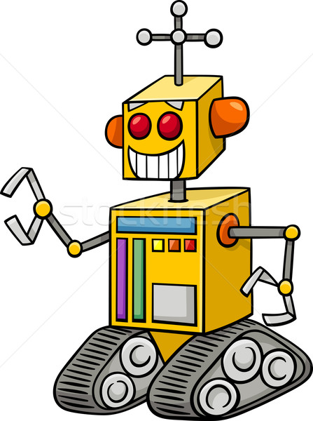 Robot fantasie karakter cartoon illustratie grappig Stockfoto © izakowski